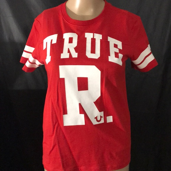 d71f9ab44da7c 😍True Religion Red and White T-shirt Medium😍